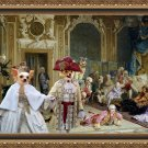 Chihuahua Long Haired Fine Art Canvas Print - The king and queen and joyfull friends