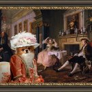 Chihuahua Long Haired Fine Art Canvas Print - Bid for marriage and her mother
