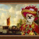 Chihuahua Long Haired Fine Art Canvas Print - The black market Lord