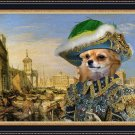 Chihuahua Long Haired Fine Art Canvas Print - Rich merchant