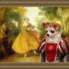 Chihuahua Long Haired Fine Art Canvas Print - The Manuet dancer