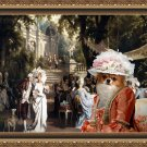 Chihuahua Long Haired Fine Art Canvas Print - The garden party