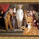 Chihuahua Smooth Haired Fine Art Canvas Print - The Italian comedians