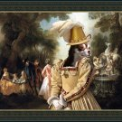 Chihuahua Smooth Haired Fine Art Canvas Print - The noble party in Palace park