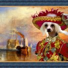 Chinese Crested Dog Fine Art Canvas Print - The fighting Temeraire
