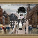 Chinese Crested Dog Fine Art Canvas Print - Meeting after work