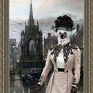 Chinese Crested Dog Fine Art Canvas Print - Wating for the lover