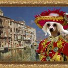 Chinese Crested Dog Fine Art Canvas Print - The Grand Canal, Venice