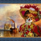 Continental Toy Spaniel Fine Art Canvas Print - The fighting Temeraire