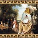 Coton de Tulear Fine Art Canvas Print - The noble party in Palace park