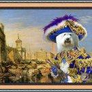 Coton de Tulear Fine Art Canvas Print - Casanova in Venice