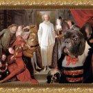 French Bulldog Fine Art Canvas Print - The Italian comedians