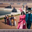 Havanese Fine Art Canvas Print - Afternon walk