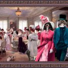 Havanese Fine Art Canvas Print - Salon of the hats