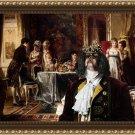 King Charles Spaniel Fine Art Canvas Print - Elegant Figures In An Interior