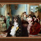 King Charles Spaniel Fine Art Canvas Print - The concert in the Salon