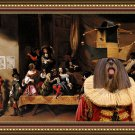 Lhasa Apso Fine Art Canvas Print - A Scene from the theathre
