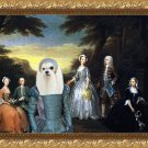 Maltese Fine Art Canvas Print - The Jones Family