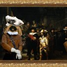 Pekingese Fine Art Canvas Print - The Night Watch