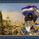 Pekingese Fine Art Canvas Print - Pirate in Venice