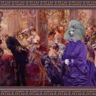 Poodle Fine Art Canvas Print - The gallant meeting