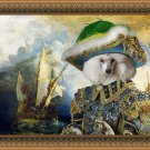 Poodle Fine Art Canvas Print - The return from the New World