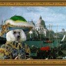 Poodle Fine Art Canvas Print - Rich Merchant in Venice