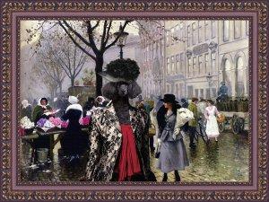 Poodle Fine Art Canvas Print - The Flower Market Copenhagen