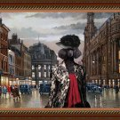 Poodle Fine Art Canvas Print - Meeting after work