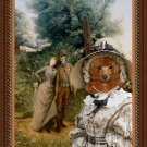 Poodle Fine Art Canvas Print - An Afternoon Stroll