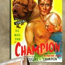 Bordeaux Dogge Poster Canvas Print  -  Champion Movie Poster