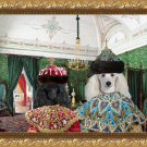 Poodle Fine Art Canvas Print - Emperor and Empress in Palace