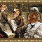 Poodle Fine Art Canvas Print - The Garden Bench