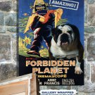 English Bulldog Poster Canvas Print  -  Forbidden Planet Movie Poster