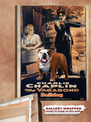 English Bulldog Poster Canvas Print  -  The Vagabond Movie Poster