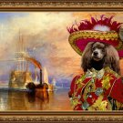 Poodle Fine Art Canvas Print - The fighting Temeraire