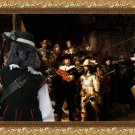 Poodle Fine Art Canvas Print - The Nightwatch