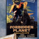 Giant Schnauzer Poster Canvas Print  -  Forbidden Planet Movie Poster