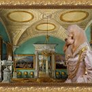 Poodle Fine Art Canvas Print - Queen in crystal room