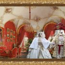Poodle Fine Art Canvas Print - Interiors of the Winter Palace with Royal couple