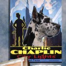 Great Dane Poster Canvas Print  -  City Lights Movie Poster