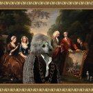 Poodle Fine Art Canvas Print - Artist seiling his painting