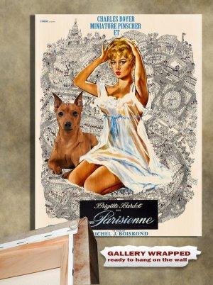 Miniature Pinscher Poster Canvas Print  -  Une Parisienne Movie Poster
