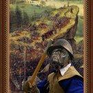 Pug-Mops Fine Art Canvas Print - The Suicide of Saul