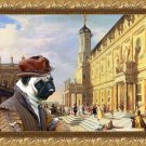 Pug-Mops Fine Art Canvas Print - Duke in Renaissance Palace