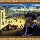 Pug-Mops Fine Art Canvas Print - Panorama of town Palace