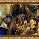 Pug-Mops Fine Art Canvas Print - Gathering before the battle
