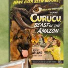 German Shepherd Poster Canvas Print  -  Curucu, Beast of the Amazon Movie Poster