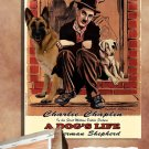 German Shepherd Poster Canvas Print  -  A DOG'S LIFE Movie Poster