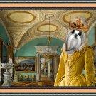 Shih Tzu Fine Art Canvas Print - Queen in crystal room